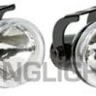 BLACK HELLA CLEAR LENS OVAL AUXILIARY DE DRIVING LIGHTING LIGHTS LAMPS LIGHT LAMP KIT
