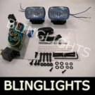 BLACK HELLA BLUE LENS RECTANGULAR AUXILIARY DE FOG LIGHTING LIGHTS LAMPS LIGHT LAMP KIT