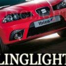 2002-2009 SEAT IBIZA FOG LIGHTS Sport stylance 2003 2004 2005 2006 2007 2008