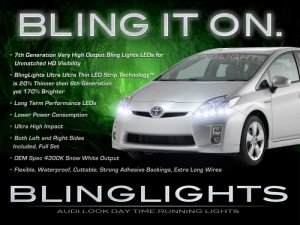 2010 2011 2012 Toyota Prius LED DRLs for Headlights Day Time Running Lamps head lights headlamps