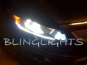 2008 2009 2010 Honda Accord LED DRL Strips Headlamps Headlights Head Lights Day Time Running Lamps
