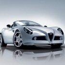 """Alfa Romeo 8C Spyder Car Poster Print on 10 mil Archival Satin Paper 16"""" x 12"""""""