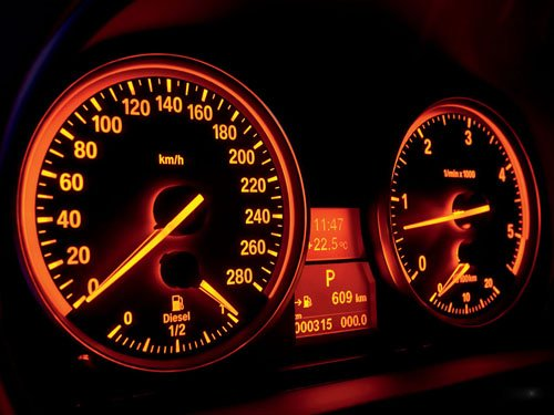 """BMW 3 Series Car Dash Poster Print 16"""" x 12"""""""