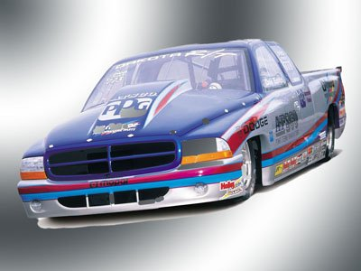 "Dodge Dakota NHRA Pro Stock Truck Poster Print on 10 mil Archival Satin Paper 16"" x 12"""