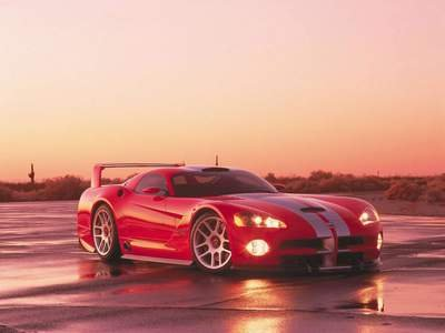 "Dodge Viper GTS-R Car Poster Print on 10 mil Archival Satin Paper 16"" x 12"""