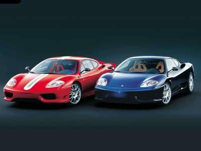 "Ferrari 360 Challenge Stradale Car Poster Print on 10 mil Archival Satin Paper 16"" x 12"""