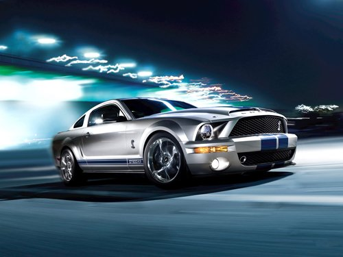 "Shelby Mustang GT500KR Car Poster Print on 10 mil Archival Satin Paper 16"" x 12"""""