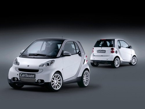 "Carlsson Smart Fortwo Car Poster Print on 10 mil Archival Satin Paper 16"" x 12'"