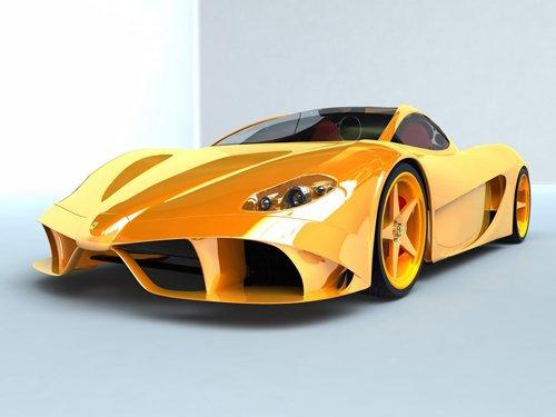 "Ferrari Aurea Spider Car Poster Print on 10 mil Archival Satin Paper 16"" x 12"""