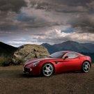 """Alfa Romeo 8C Competizione (2009) Concept Car Poster Print 16"""" x 12"""""""