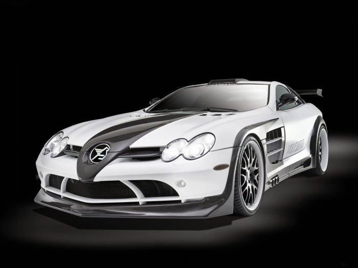"Hamann Mercedes-Benz SLR Volcano Car Poster Print on 10 mil Archival Satin Paper 16"" x 12"""
