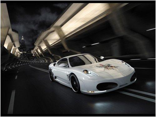 "Ferrari F430 Calavera Concept Car Poster Print on 10 mil Archival Satin Paper 16"" x 12"""