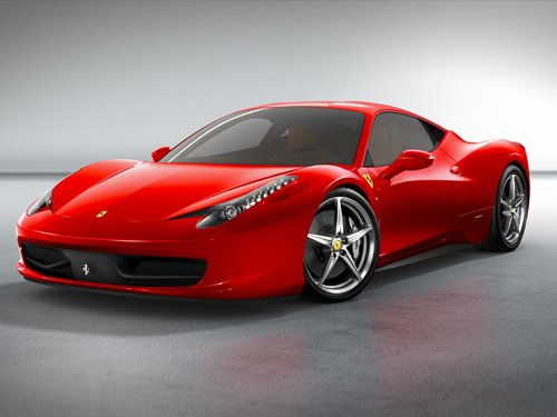 "Ferrari 458 Italia Car Poster Print on 10 mil Archival Satin Paper 16"" x 12"""