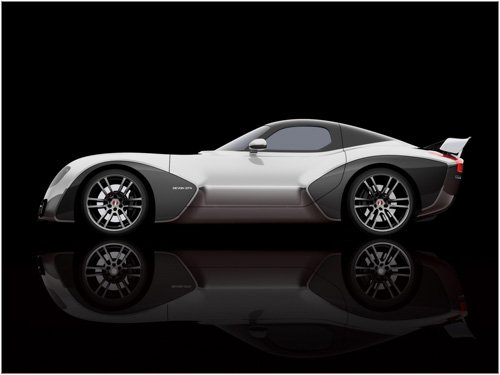 "Devon GTX Concept Car Poster Print on 10 mil Archival Satin Paper 16"" x 12"""