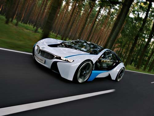 "BMW EfficientDynamics Concept Car Poster Print on 10 mil Archival Satin Paper 16"" x 12"""