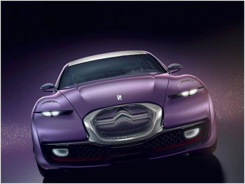 "Citroen REVOLTe Concept Car Poster Print on 10 mil Archival Satin Paper 16"" x 12"""