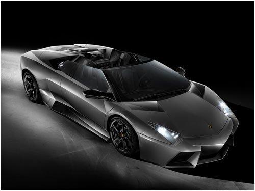 "Lamborghini Reventon Roadster Car Poster Print on 10 mil Archival Satin Paper 16"" x 12"""