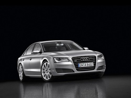"Audi A8 4 2 TDI quattro 2010 Car Archival Canvas Print (Rolled) 16"" x12"""