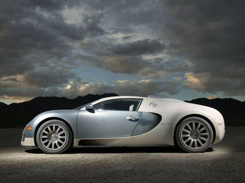 """Bugatti Veyron Car Archival Canvas Print (Rolled) 16"""" x 12"""""""