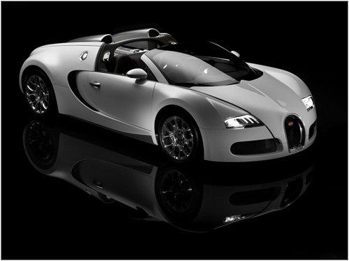 "Bugatti Veyron Grand Sport Car Archival Canvas Print (Rolled) 16"" x 12"""