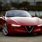 "Alfa Romeo 2uettottanta (2010) Concept Car Archival Canvas Print (Rolled) 16"" x 12"""