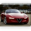 "Alfa Romeo 2uettottanta (2010) Concept Car Archival Canvas Print (Mounted) 16"" x 12"""