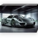 "Porsche 918 Spyder Concept Car Archival Canvas Print (Mounted) 16"" x 12"""