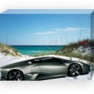"Lamborghini Reventon Beach Car Archival Canvas Print (Mounted) 16"" x 12"""