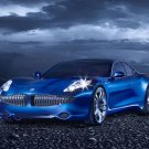 "Fisker Karma Car Archival Canvas Print (Rolled) 16"" x 12"""