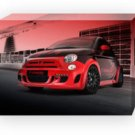 "Hamann Fiat 500 Abarth (2010) Archival Canvas Print (Mounted) 16"" x 12"""