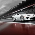 "Lexus LFA On Race Track Car Poster Print on 10 mil Archival Satin Paper 16"" x 12"""