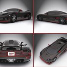 "Koenigsegg CCXR Special Edition Montage Archival Canvas Car Print (Rolled) 16"" x 12"""