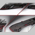 "Koenigsegg CCXR Special Edition Montage Archival Canvas Car Print (Mounted) 16"" x 12"""