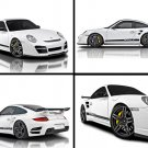 "Vorsteiner Porsche 911 Turbo V-RT Montage Archival Canvas Car Print (Rolled) 16"" x 12"""