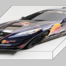 "Hyundai Genesis RHYS Millen Drift Coupe Archival Canvas Car Print (Mounted) 16"" x 12"""
