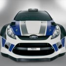 "Ford Fiesta RS WRC Archival Canvas Car Print (Rolled) 16"" x 12"""""
