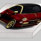 """Fenice Milano Fiat 500 La Dolce Vita Archival Canvas Car Print (Mounted) 16"""" x 12"""""""