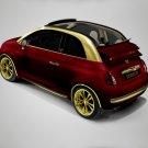 """Fenice Milano Fiat 500 La Dolce Vita Car Poster Print on 10 mil Archival Satin Paper 16"""" x 12"""""""