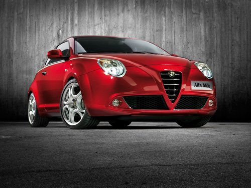 "Alfa Romeo Mi.To Car Poster Print on 10 mil Archival Satin Paper 16"" x 12"""