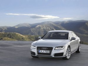 "Audi A7 Sportback 2011 Car Poster Print on 10 mil Archival Satin Paper 16"" x 12"""