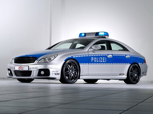 "Brabus Rocket Police Car Poster Print on 10 mil Archival Satin Paper 16"" x 12"""