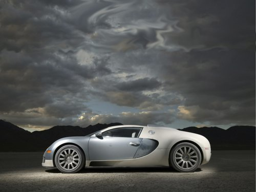 "Bugatti Veyron Car Poster Print on 10 mil Archival Satin Paper 16"" x 12"""