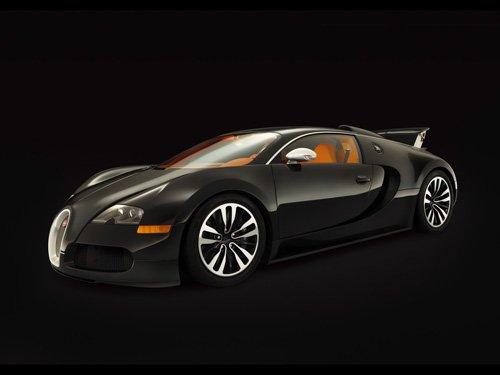 "Bugatti Veyron Sang Noir Car Poster Print on 10 mil Archival Satin Paper 16"" x 12"""