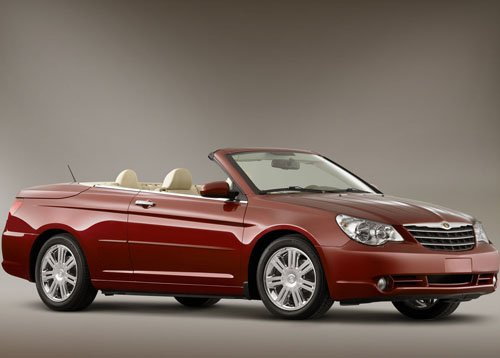 "Chrysler Sebring Convertible Car Poster Print on 10 mil Archival Satin Paper 16"" x 12"""