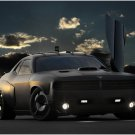 "Dodge Air Force Challenger Vapor Car Poster Print on 10 mil Archival Satin Paper 16"" x 12"""