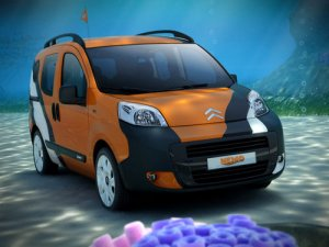 "Citroen Nemo Concetto Car Poster Print on 10 mil Archival Satin Paper 20"" x 15"""