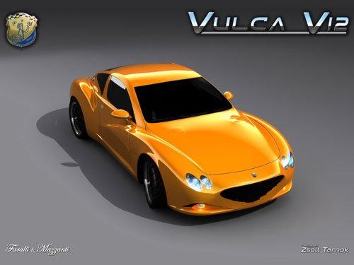 "Faralli & Mazzanti Vulca V12 Car Poster Print on 10 mil Archival Satin Paper 16"" x 12"""