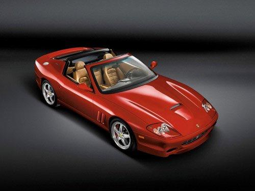 "Ferrari 575M Superamerica Car Poster Print on 10 mil Archival Satin Paper 16"" x 12"""