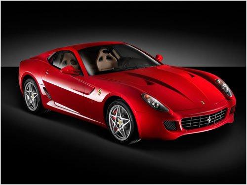 "Ferrari 599 GTB Fiorano Car Poster Print on 10 mil Archival Satin Paper 16"" x 12"""