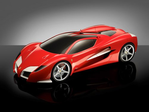 """Ferrari Ascari Torino Car Poster Print on 10 mil Archival Satin Paper 16"""" x 12"""""""